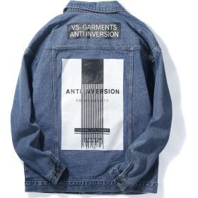 VIISHOW デニムジャケット ファッション カジュアル 人気 通勤 メンズ