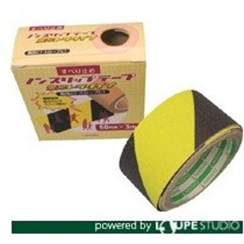 日東エルマテ 蛍光ノンスリップテープ 100mmX3m 黄/黒 [LKST-100] LKST100 販売単位:1