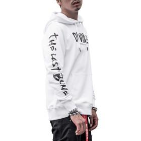 ディバイナー(DIVINER) 綿100%裏毛袖プリントプルパーカー メンズ トップス スウェット トレーナー XL ホワイト