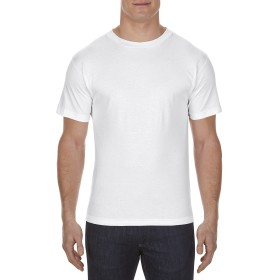 AL STYLE(アルスタイル)綿100%6.0oz無地ソリッドTシャツ4カラー#1301/Adult Short Sleeve Tee/AAA トリプルA【並行輸入品】 (S, ホワイト)