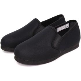 (ラフィット) LAFIT 超軽量 日本製 介護シューズ 女性用 室内 室外 介護靴 3e リハビリシューズ スリッポン ブラック 23.5