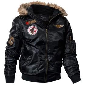 smartes メンズ ミリタリー ジャケット 裏起毛 アーミー フード付き アウター ブルゾン フード付き 防風 防寒 ジャンパー 大きいサイズ MA-1 jk-77c-01