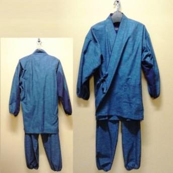 【作務衣/さむえ】 作務衣 上下セット 紳士用 耽美 鎌谷辰美作 日本製