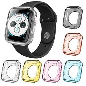 6本の腕時計スクリーン保護ケース、AFUNTA互換Apple Watchシリーズ4ケース40mmオールラウンドTPUバンパー防水カバー互換の新しいi