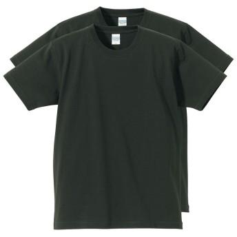 (ユナイテッド アスレ)United Athle 【2枚セット】 重厚感のある厚さ 丈夫さを兼ね備えた 半袖 無地 メンズ Tシャツ スミ XL
