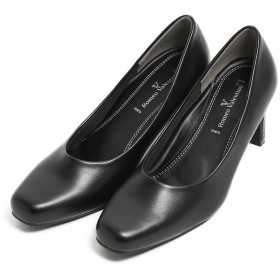 [ニナーズ] パンプス 靴 フォーマル 痛くない 疲れにくい 美脚 プレーン ハイヒール スクエアトゥ EEE 3E 低反発 黒 大きいサイズ 小さいサイズ ブラックフォーマル お受験 お呼ばれ SH-LP3300 (21.5cm)