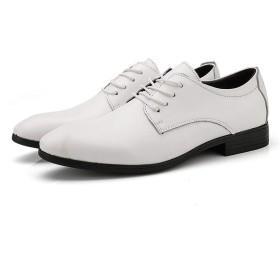 [DIG DOG BONE] 靴 男性 ビジネス オックスフォード カジュアル ファッション クラシック レースアップ ロートップ 快適 正式 シューズ (Color : 白, サイズ : 25 CM)