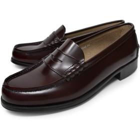 [ハルタ] ローファー 学生靴 3048 本革 レディース ブラウン 23.5cm