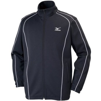 [ミズノ] トレーニングウェア ウォームアップシャツ 吸汗速乾 ドライ メンズ 32JC6125 90 ブラック×ホワイト XS