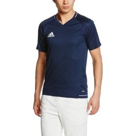 [アディダス] フットボールウェア TIRO17 トレーニングジャージー 半袖 BRR66 [メンズ] カレッジネイビー/ホワイト 日本 J/S (日本サイズS相当)
