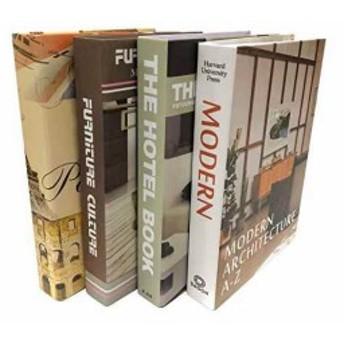 Gran Roi 飾る 本 イミテーション ブック 西洋書 インテリア 置物 ディスプレイ モダン 4冊セット G(4冊セット G)