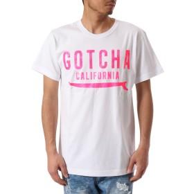 (ガッチャ) GOTCHA Tシャツ 蛍光 ロゴ TEE [ JAPAN加工 ] 182G1010Q ホワイト Lサイズ
