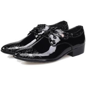 [ヘブンデイズ] Heaven Days 革靴 ビジネスシューズ ドライビングシューズ ローファー 紳士靴 ポインテッドトゥ エナメル 型押し柄 メンズ 1803N0281