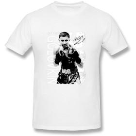 ファッション メンズ ゲンナジー ゴロフキン プロボクサー 半袖シャツ 体に合う ホワイト Size XL