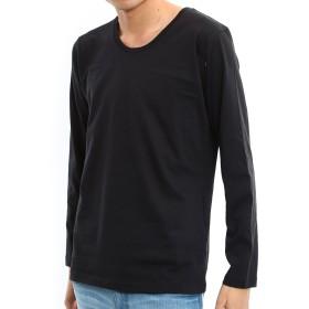 インプローブス Tシャツ 長袖 カットソー ロンT メンズ Uネック ブラック M サイズ