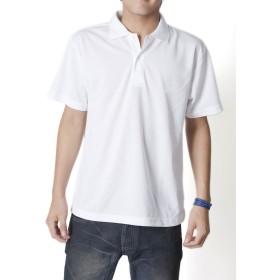 ティーシャツドットエスティー ポロシャツ ドライ 半袖 無地 UVカット 4.4oz メンズ ホワイト L