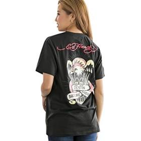 (アドミックス アトリエサブメン) ADMIX ATELIER SAB MEN メンズ Tシャツ 【Ed Hardy】ドン・エドハーディー書き下ろしプリントTシャツ 02-66-9512 52(LL) ブラック