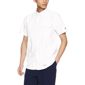 [チャンピオン] 半袖ボタンダウンシャツ C3-M341 メンズ ホワイト 日本 L (日本サイズL相当)