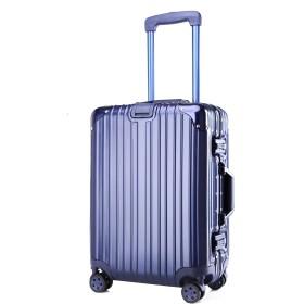 クロース(Kroeus)スーツケース TSAロック搭載 キャリーケース 機内持込可 ベルトフック付き 旅行 軽量 8輪 鏡面 ブルー S