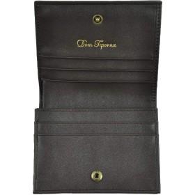 Dom Teporna 財布 レザー メンズ レディース 二つ折り 小銭入れ お札入れ 名刺入れ カードケース マルチケース 人気 革 シンプル ビジネス ブラック