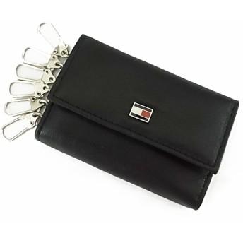 トミーヒルフィガー メンズ キーケース Oxford 31TL17X002 1 ブラック 並行輸入品