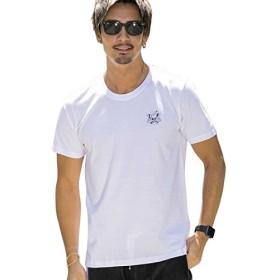 (アドミックス アトリエサブメン) ADMIX ATELIER SAB MEN メンズ Ed Hardy 2ピースパック ドン・エドハーディー 書下ろし ワンポイント Tシャツ (クルーネック) 02-66-9531 48(M) ホワイト(01)