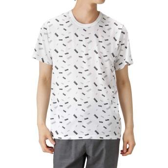 LOVE-T MARVEL ロゴ Tシャツ 半袖Tシャツ クルーネック 932045MH メンズ ホワイト:XL