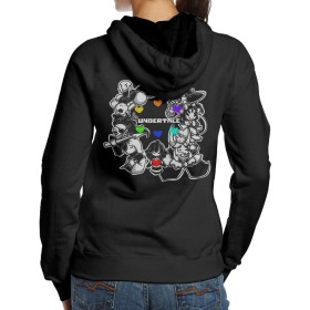 JIMI 女性着 大人気 アンダーテール ゲーム キャラ ヒマワリ 丸い デザイン スウェットシャツ フード付き 登山 プルオーバーパーカー Black S