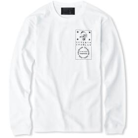 (セブンスクローラー)SEVENTH CRAWLER アメカジ メンズ Tシャツ 長袖 ロンT ロングTシャツ 7CF Vintage MK Long T ホワイト Lサイズ