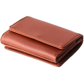 [Boosters] ブースターズ 三つ折り財布 ミニ 財布 メンズ 本革 カード 小さい キャメル