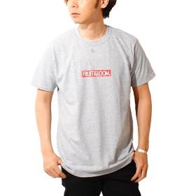 フルーツオブザルーム (FRUIT OF THE LOOM) ボックスロゴ Tシャツ USAコットン メンズ 半袖 (M, H/グレー)