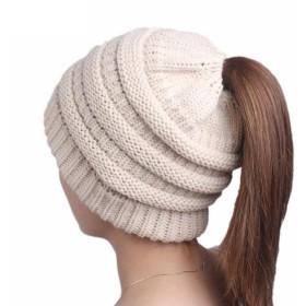 Smiry 帽子 レディース ニット帽子 ニットキャップ ミックス編み帽子 カジュアル 厚手 柔らかい 防寒 保温 伸縮性もあり 可愛い 自転車 秋冬用