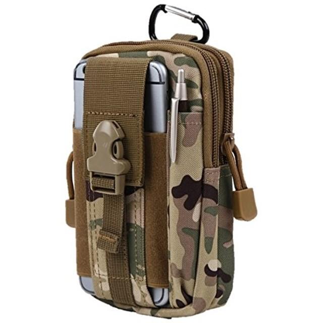 [ノーフ] Norph コンパクトベルトポーチ カラビナ付きでリュックやバッグに取り付け可能モデル ( iphone6 plus 以下のサイズに対応) (CP迷彩)