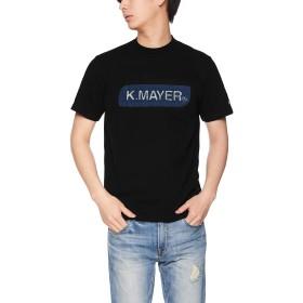 [クリフメイヤー] ブランドロゴTEE 「 デニムエンボス 」 Tシャツ 半袖 トップス コットン クルーネック ボックスロゴ MEDIUM ブラック