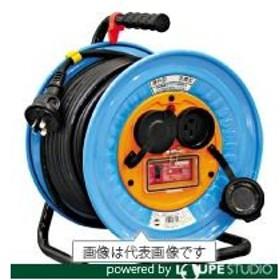 日動 電工ドラム 防雨防塵型三相200V アース過負荷漏電しゃ断器付 30m [DNW-EK330-20A]  DNWEK33020A 販売単位:1