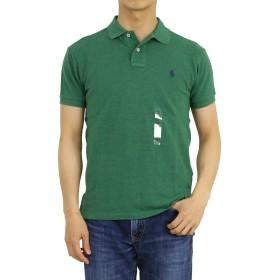 (ポロ ラルフローレン) POLO Ralph Lauren カスタムフィット メンズ ポロシャツ CUSTOM FIT 無地 ワンポイント 0105600-L-GREENHTR [並行輸入品]