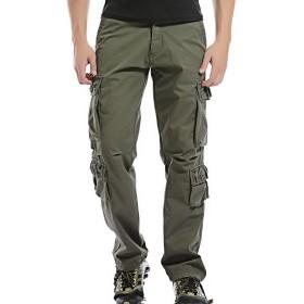 (オナーショップ)HonourShop メンズ カーゴパンツ 作業ズボン 多機能 裏起毛 作業着 ズボン ワークパンツ 大きいサイズ ロングパンツ 暖かい 防寒 ワークパンツ 裏ボア 裏フリース 10ポケットアーミーグリーン 38 xl