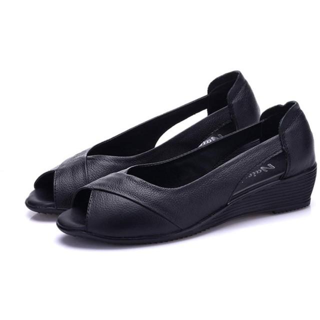 サンダル レディース オフィス ナースシューズ 軽い 快適 大きいサイズ 歩きやすい クッション ローヒール 疲れない 痛くない 安定感 柔軟性抜群 夏 通気性 屈曲性 看護師シューズ べたんこ 婦人靴 黒