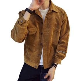 YIMANIE コーデュロイ ジャケット メンズ スウィングトップ ワークジャケット 和風 刺繍 薄手 コールテンシャツ 春夏秋冬 カジュアル 復古風 作業服 通学 通勤 3色 大きいサイズ UVカット 男女兼用