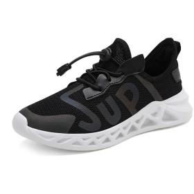 [パルクール] クラシックスタイル子供靴男の子スニーカー女の子ソフトスポーツシューズ子供屋外ランニングシューズ 21.5cm 黒