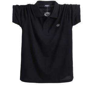 YIGAR ポロシャツ メンズ 大きいサイズ ゴルフウェア 半袖 通気性 吸汗速乾 シンプル トップス 2019新しい 通気性 ボタン 夏 綿 多色選択 M-5XL 1808 hei-M