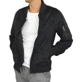 (アダマス) ADAMAS フェイク スエード ジャケット メンズ ライダースジャケット MA-1 M MA-1:ブラック