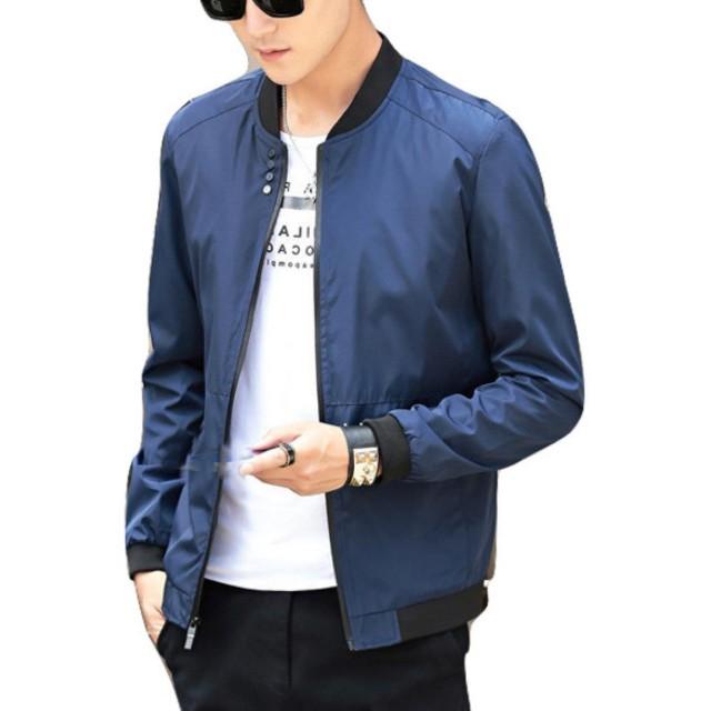 (ナチュシー) NatuSe メンズ ジャケット ジャンパー ジャン アウター 上着 薄手 エムエーワン ma 1 (12 ネイビー L(日本S))