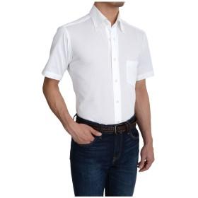 [オジエ] ozie 【ビズポロ・ニットシャツ・メンズ・ワイシャツ・カジュアルシャツ】半袖・スリム・クールマックス・ボタンダウン