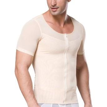 IYUNYI メンズ 加圧インナー コンプレッションウェア 半袖 Tシャツ お腹引き締め 筋トレ 猫背矯正 脂肪燃焼 コンプレッションウェア