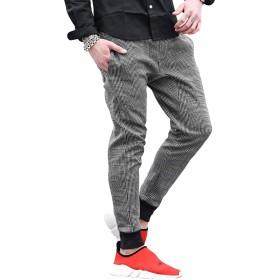ルービック(RUBIK) ジョガーパンツ メンズ スウェットパンツ カーゴパンツ スキニーパンツ テーパード 無地 XL(ジョガータイプ) グレンチェック