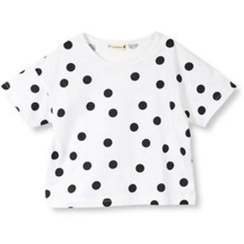 【ブランシェス:トップス】【プチプラ】ドット柄半袖Tシャツ