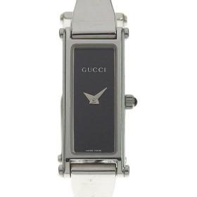 03楽市 本物 GUCCI グッチ レディース クォーツ 腕時計 黒文字盤 1500L