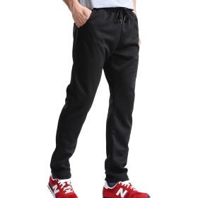 [シャンディニー] スウェットパンツ メンズ おおきいサイズ タック入り コットン 無地 普段着 ブラック 2XL サイズ