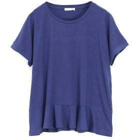 [アンドイット] and it_ もちもちストレッチ ペプラム カットソーレディース トップス Tシャツ 03ネイビーM
